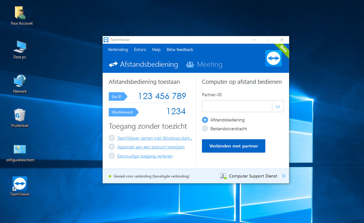 teamviewer windows10